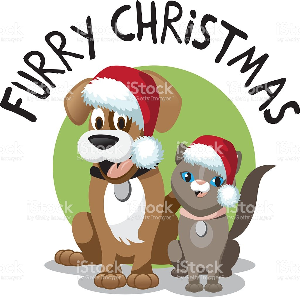 Christmas clip art dog.