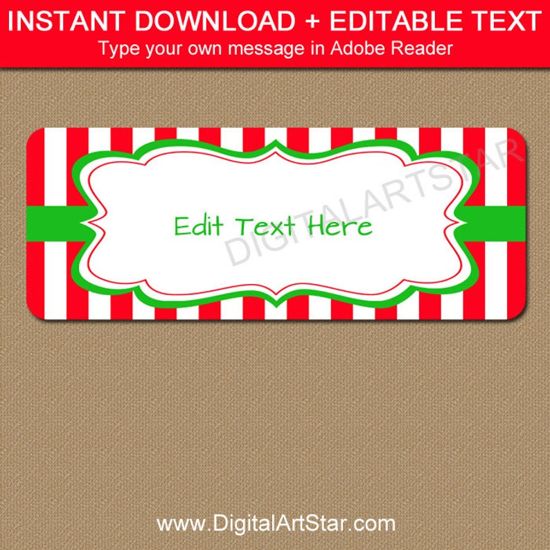 EDITABLE Holiday Address Labels.