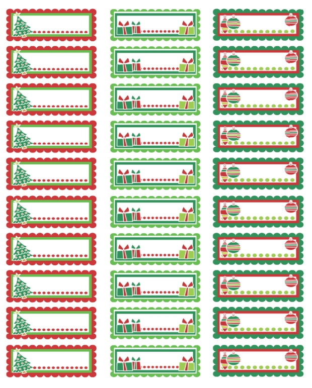 Avery 8460 Christmas Border Label.