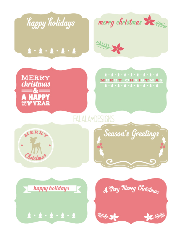 Free download Holiday Labels and Tags by Falala Designs..