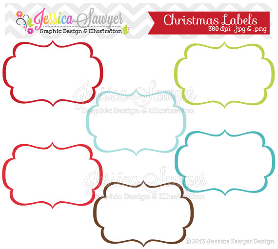 INSTANT DOWNLOAD, christmas labels, tag clipart, printable labels.