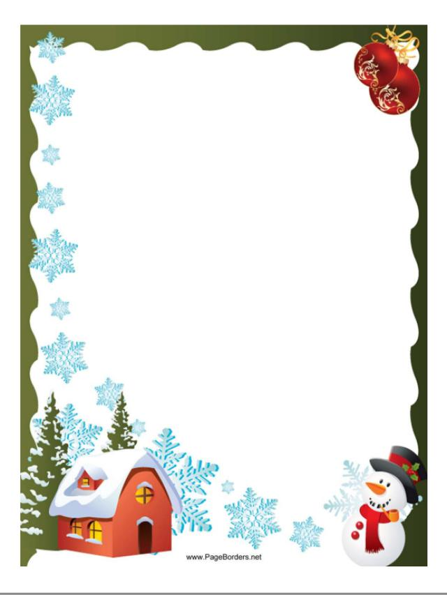 Christmas borders you can download and use for a page or photo.