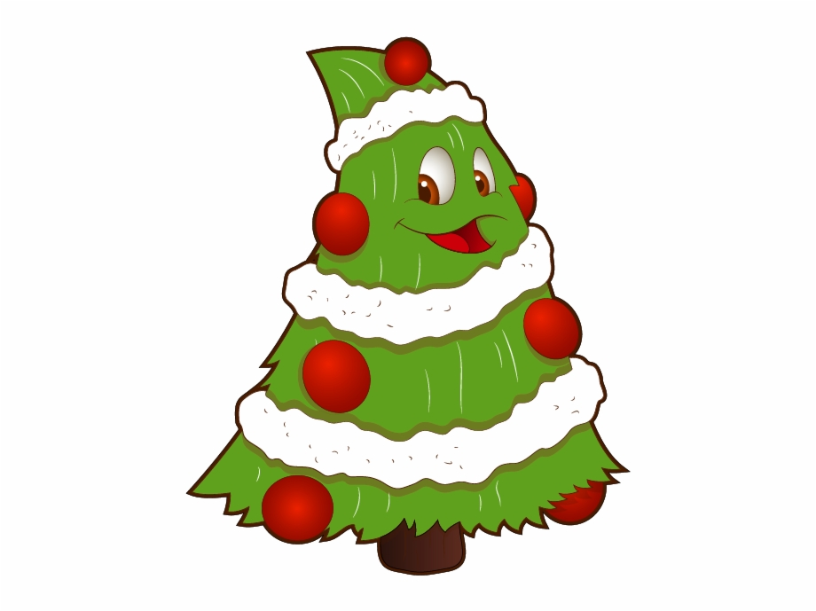Transparent Funny Small Christmas Tree Png Clipart.