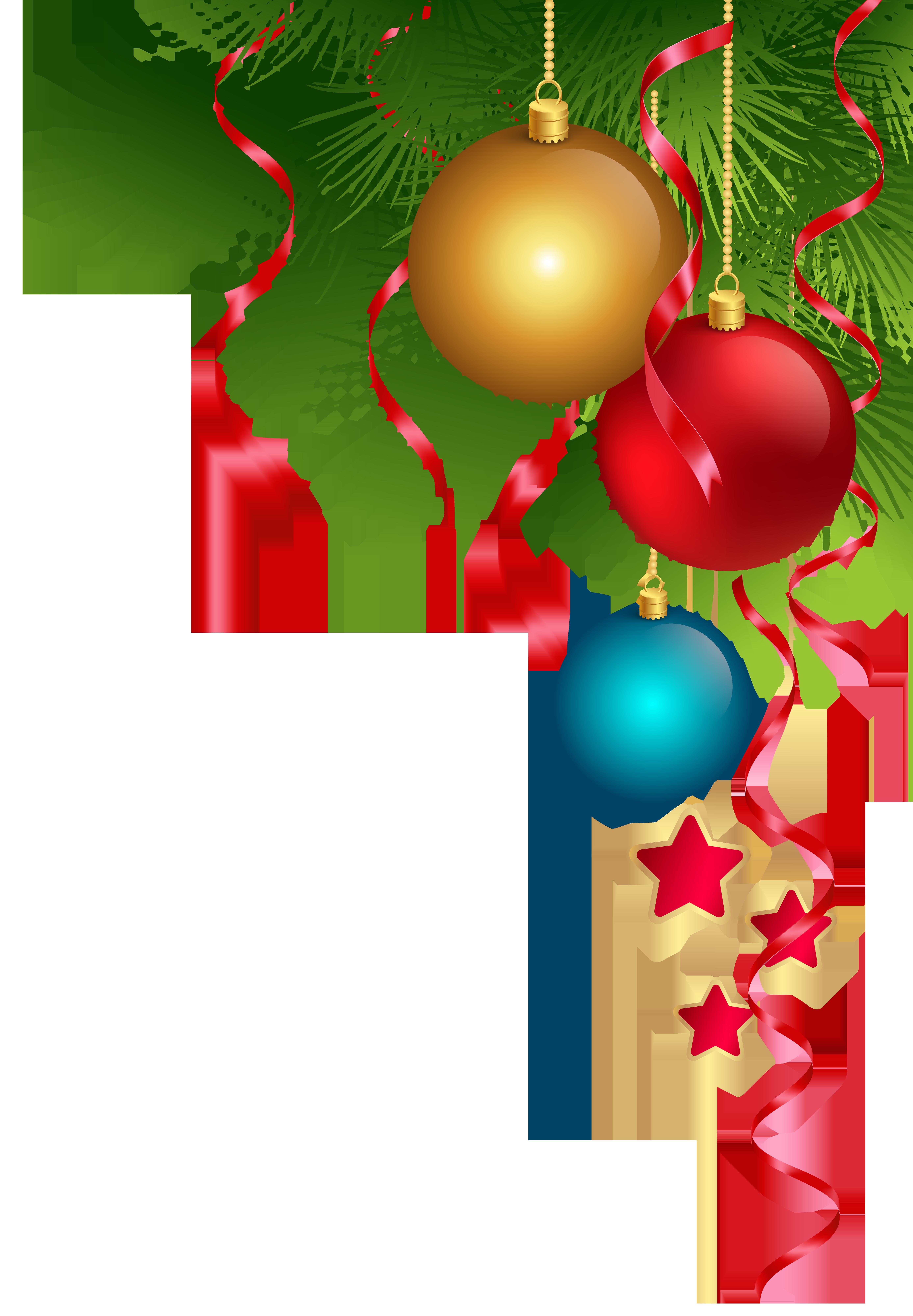 Transparent Christmas Decoration PNG Clip Art Image.
