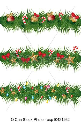 Christmas Clip Art Garland.