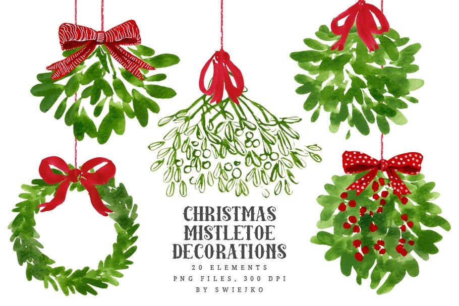 Mistletoe Christmas Clip art.