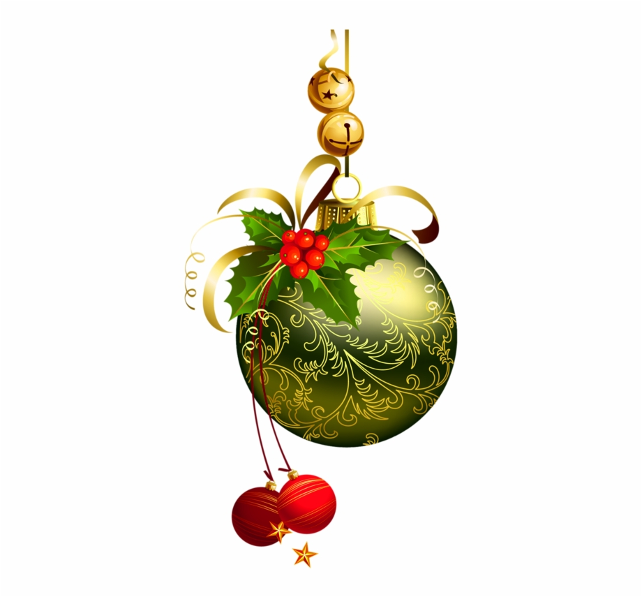 Clip Royalty Free Download Green Christmas Ball With.