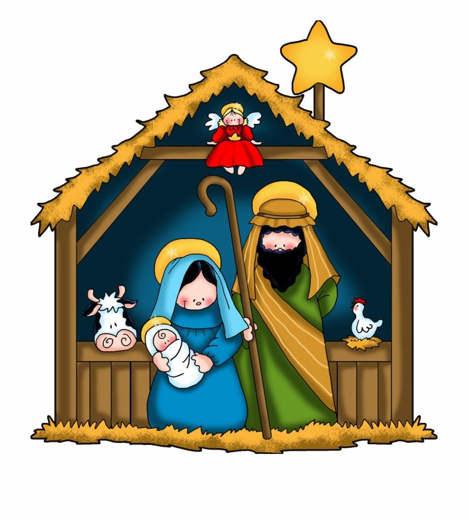 Birth Of Jesus Christmas Clipart.
