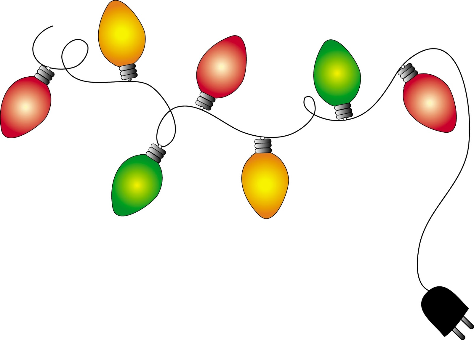 5+ Holiday Lights Clipart.