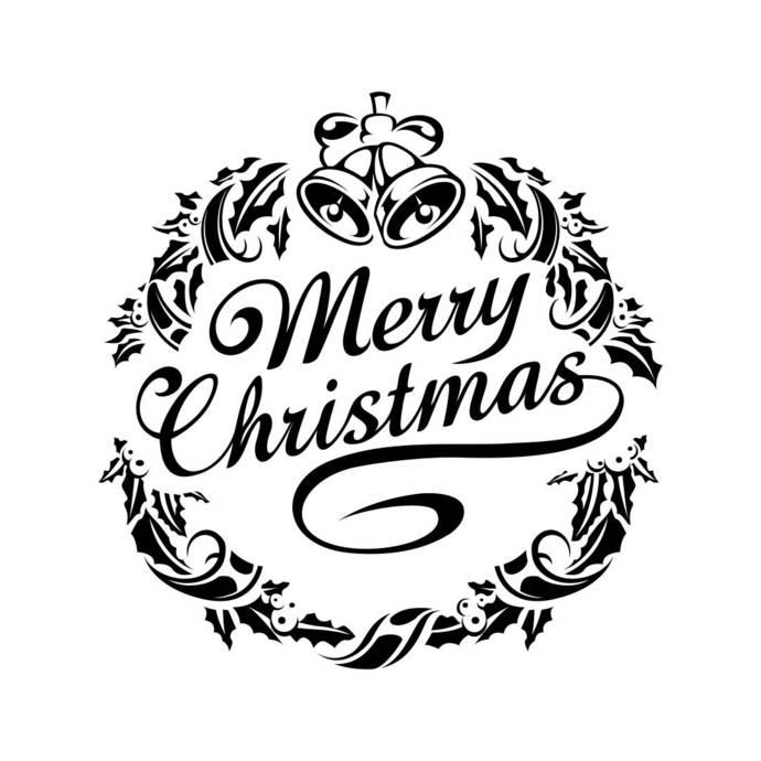 Merry Christmas Ornament Graphics SVG Dxf EPS Png Cdr Ai Pdf Vector Art  Clipart instant download Digital Cut Print File Cricut Silhouette.