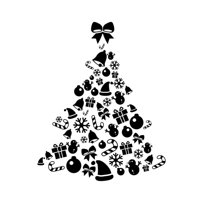 Christmas Tree Elements graphics design SVG DXF EPS Cdr Ai Png Pdf Vector  Art Clipart instant download Digital Cut Print Files T.