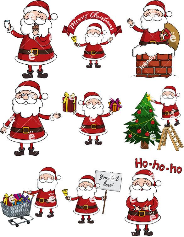 Cute Santa Claus Collection.