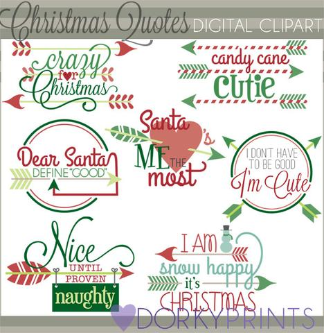 Arrow Quotes Christmas Clipart.