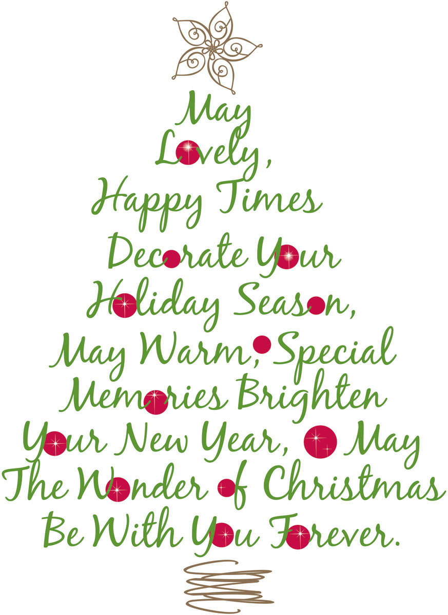 RMK1412GM Christmas Tree Quote Giant Wall Stickers.