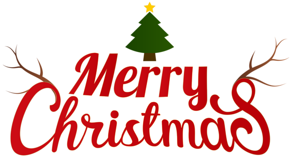 Merry Christmas Clipart No Background.