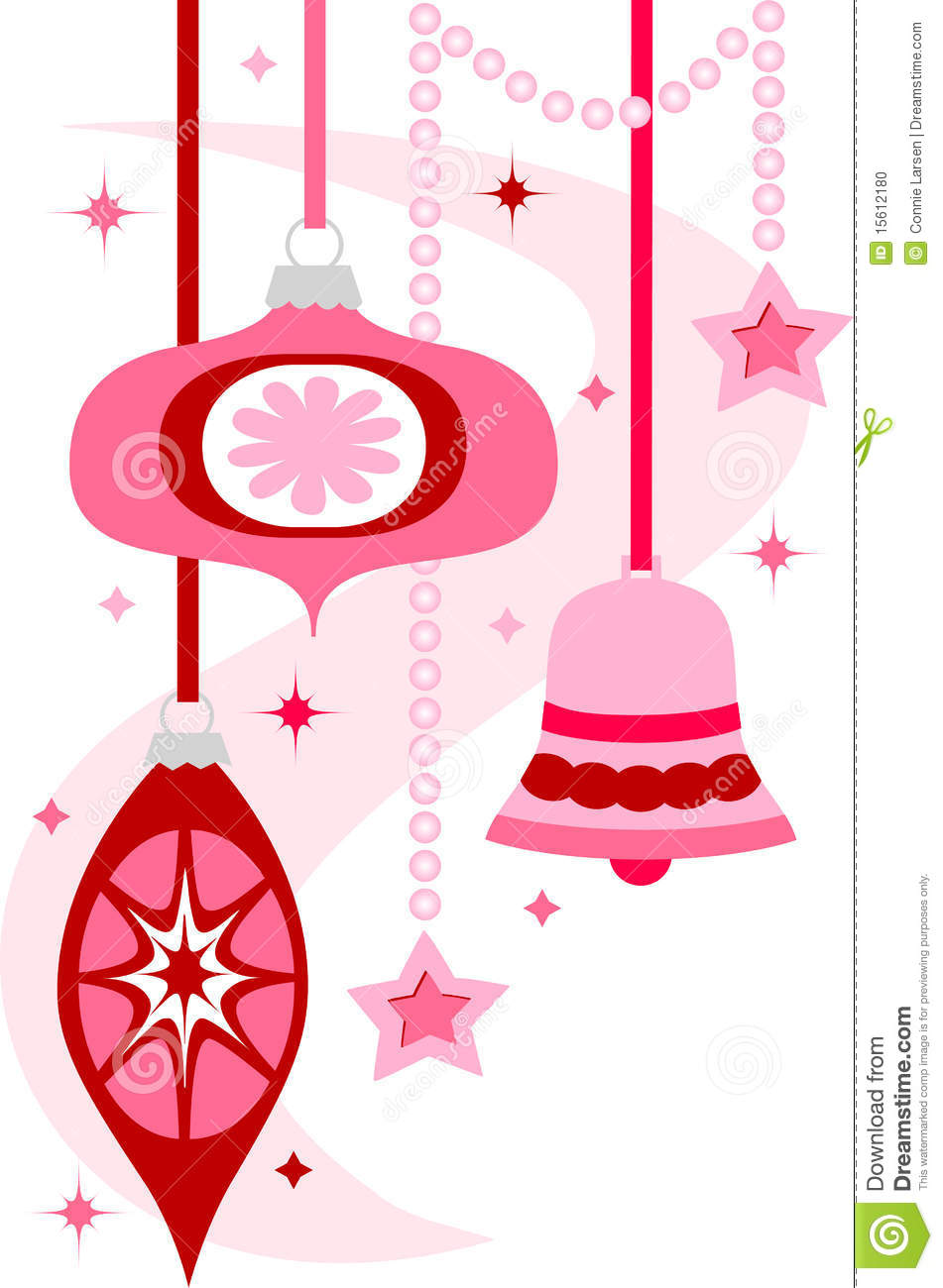 Retro Christmas Ornaments/eps Stock Vector.