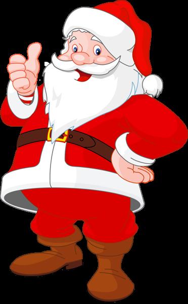 Transparent Santa Claus.