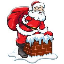 Santa and Elves Modern Clipart.