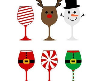 Christmas wine svg.