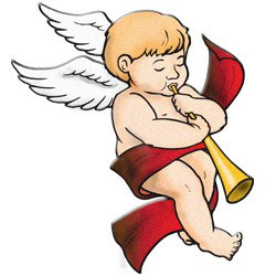Free Vintage Angels Christmas Clipart.