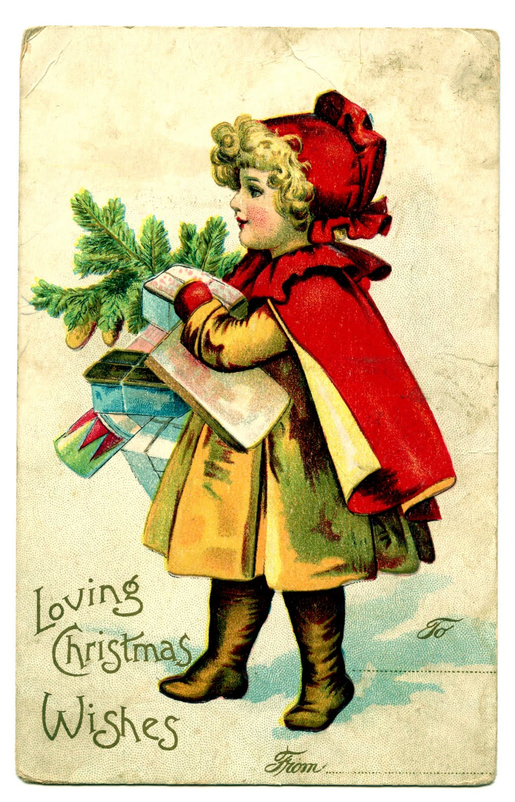 Antique Christmas Clip Art.