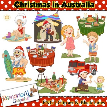 Christmas around the World Clip art Australia.