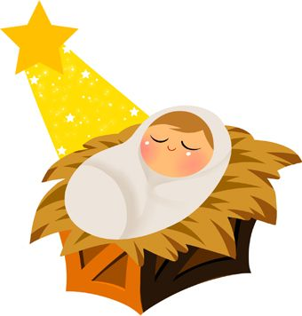 Baby Jesus With Yellow Star Clip Art.