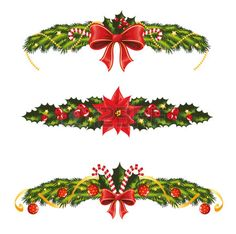 Christmas Banner with Gold Bells Clipart.