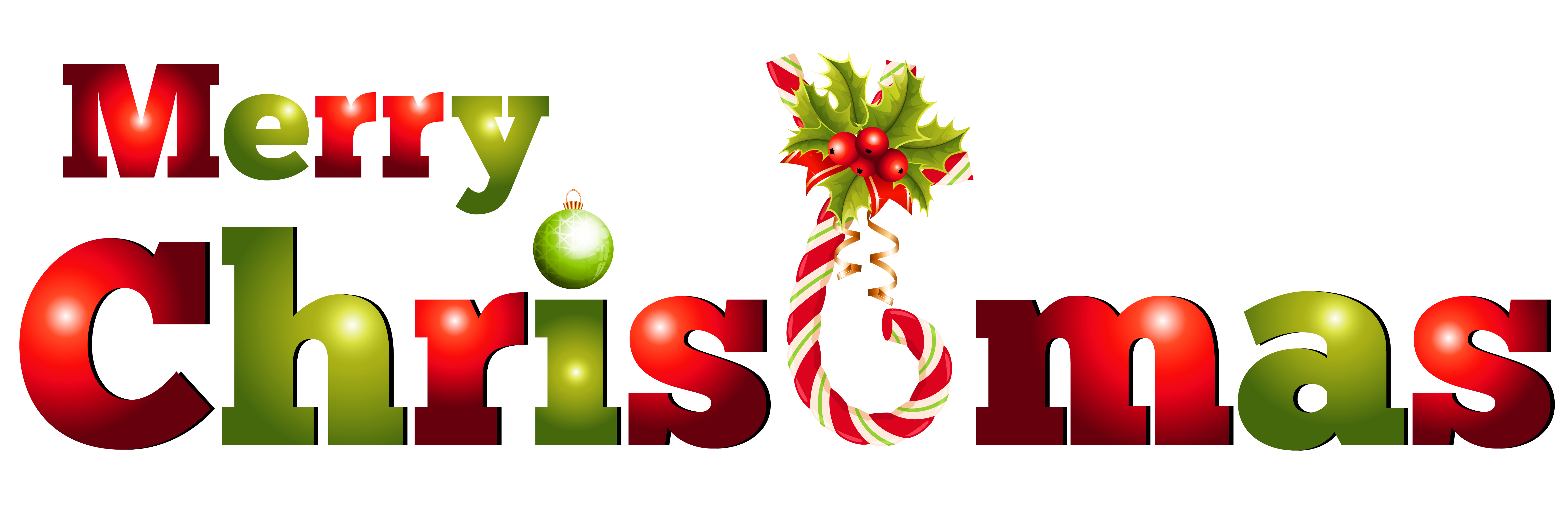 Merry Christmas Clip Art Banners.