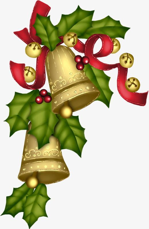 Golden Christmas Bell PNG, Clipart, Bell Clipart, Bells.