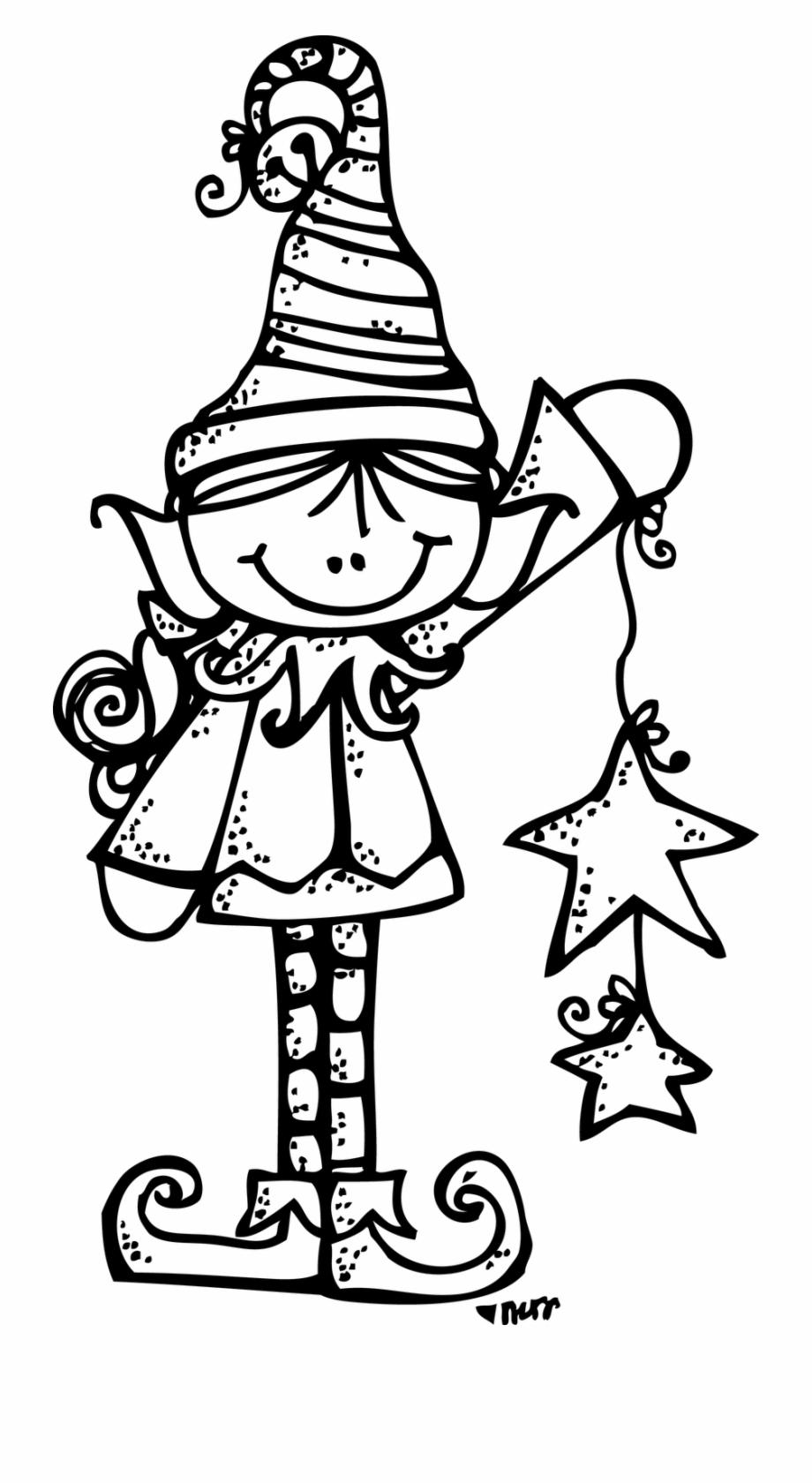 Melonheadz Boy Elf Clipart Black And White & Clip Art.
