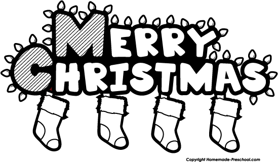 Christmas Clipart Black And White Christmas Eve.
