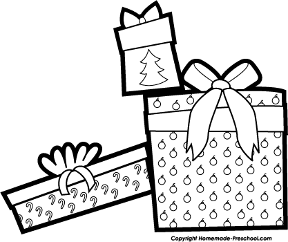 Christmas Black And White Eve Fish Clipart