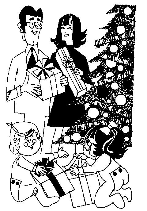 Christmas Clipart Black And White Christmas Eve.
