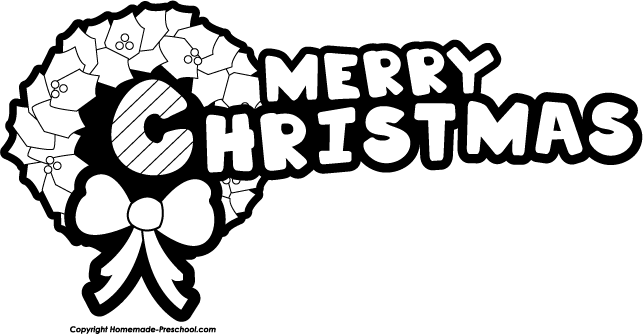 Christmas black and white coloring clip art and graphics on.