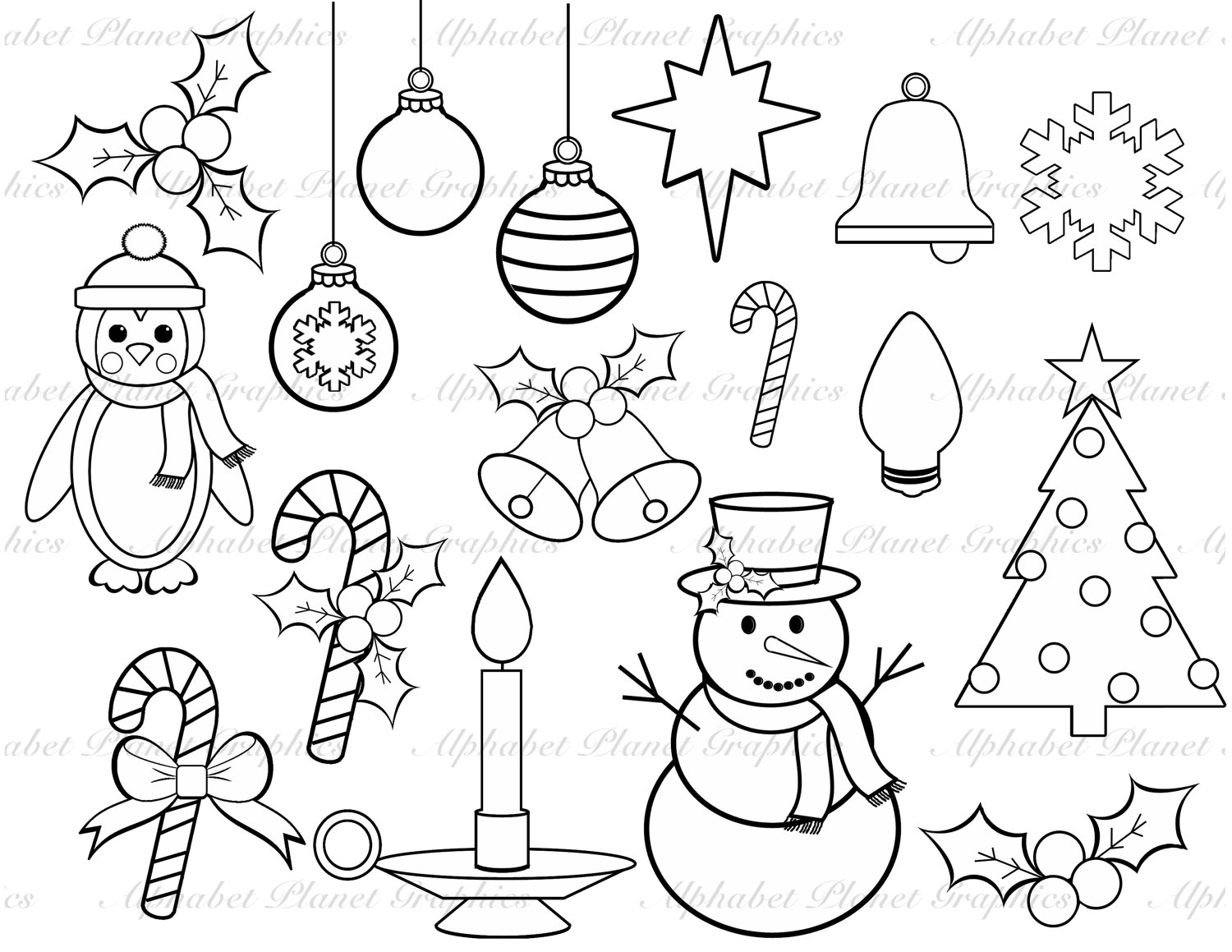 Christmas Drawing Black And White at GetDrawings.com.