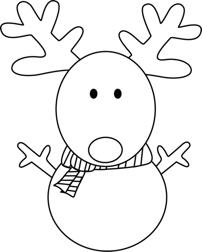 Black And White Reindeer Snowman Clip Art Black And White.