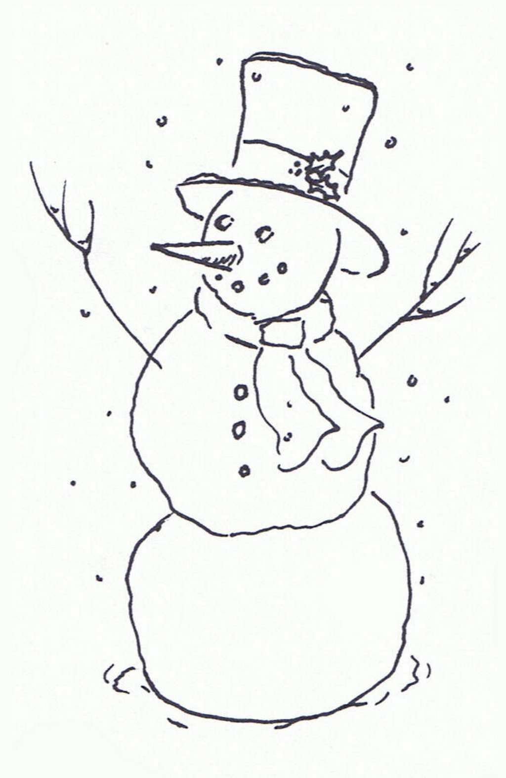 christmas clipart black and white snowman - Clipground