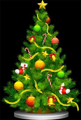 Free Animated Christmas Trees.