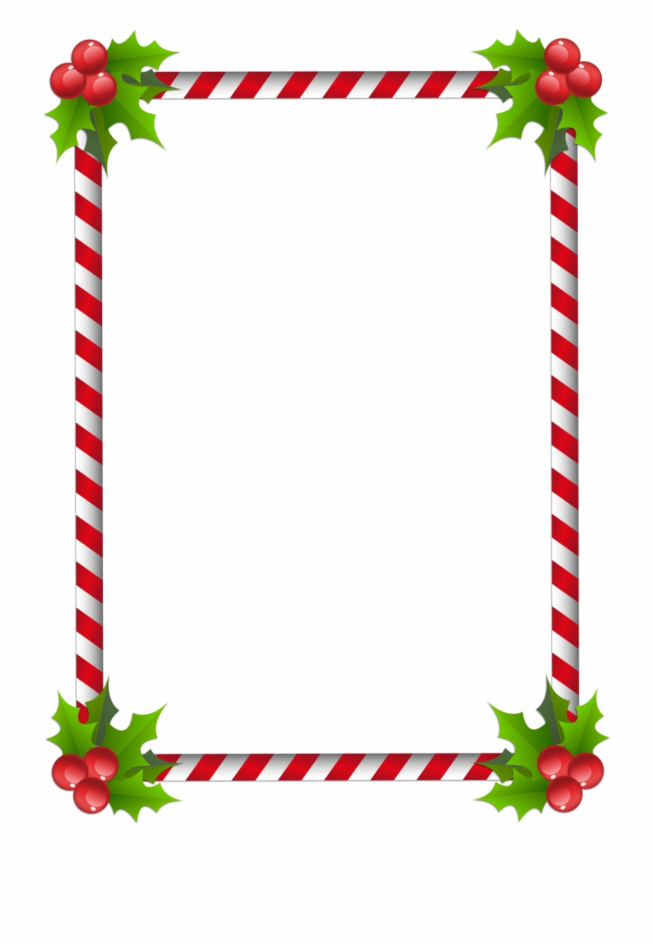 Transparent Background Border Christmas Clipart.