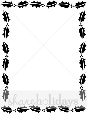 Christmas Clipart Black And White Border.