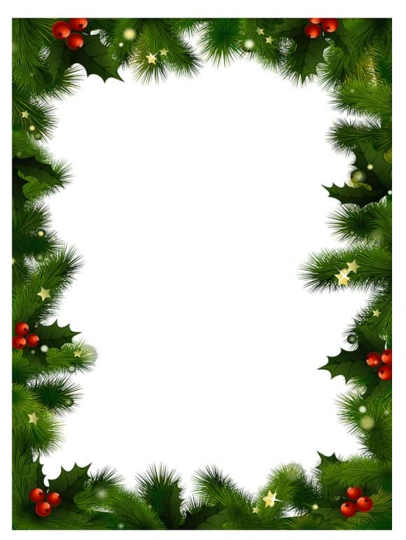 christmas email borders.