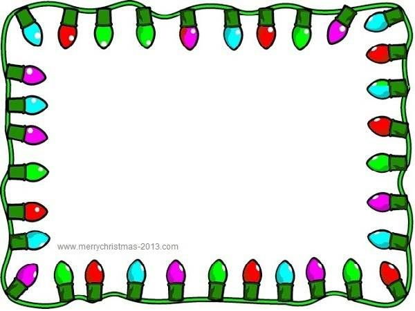 Free borders christmas clip art borders for word documents.