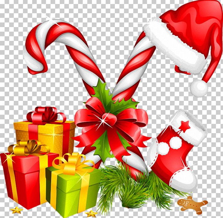 Santa Claus Candy Cane Christmas Decoration PNG, Clipart.