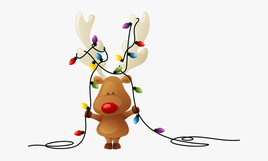 Christmas Lights Clipart Transparent Background.