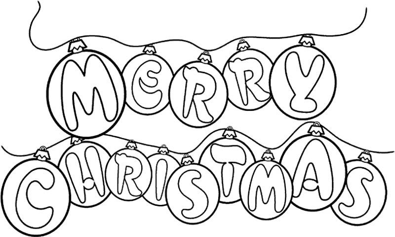 Merry Christmas Coloring Pages.