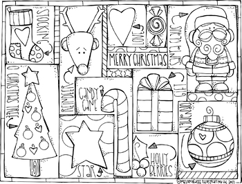 FREE Christmas coloring Page.