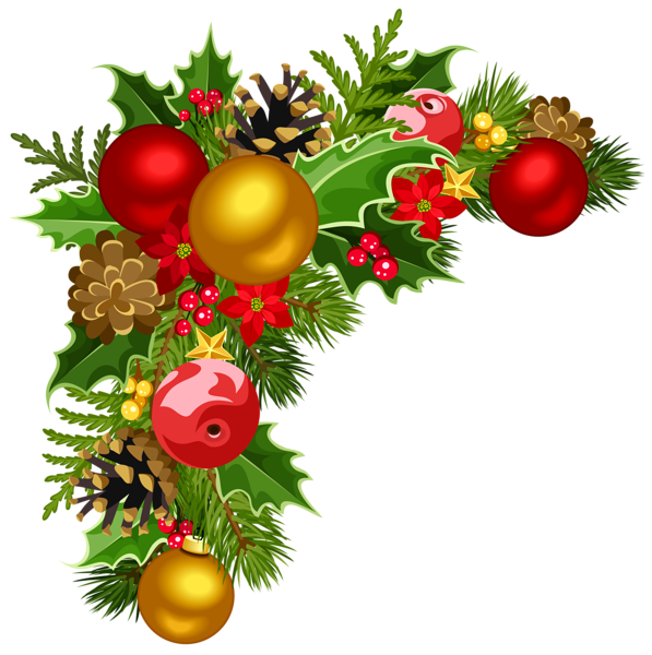 Christmas Clipart Corner Borders Png Transparent.