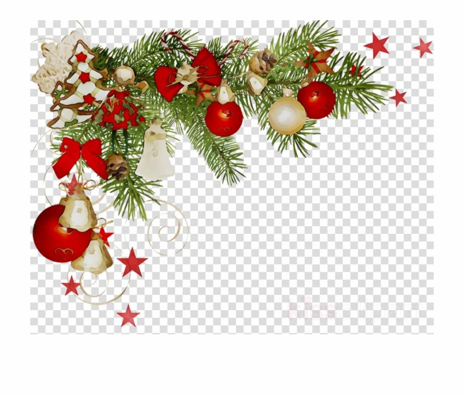 Corner Elegant Christmas Border Clipart.