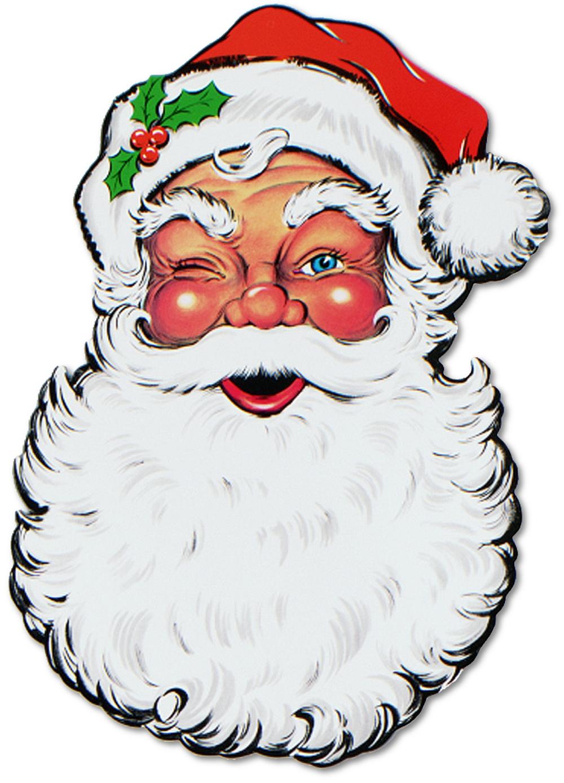 Images: Vintage Santa Claus Face Clipart.
